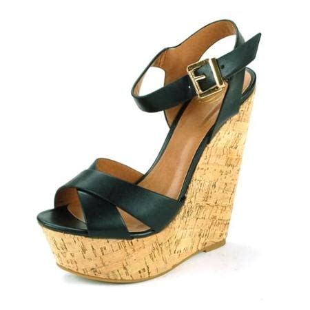 buy womens platform wedge shoes strappy cork high heels