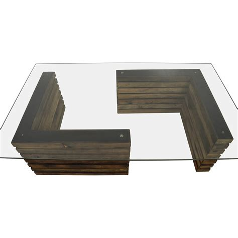 rustic glass coffee table 88 rustic industrial wood and glass coffee table