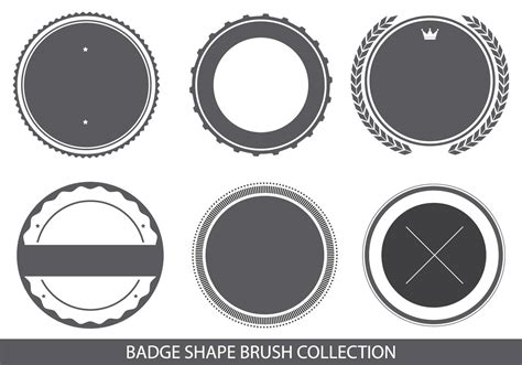 template badge photoshop badge shapes brush collection free photoshop brushes at