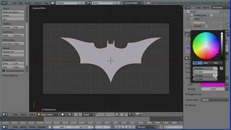 tutorial blender logo blender tutorial using curves to make a batman logo