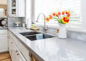 How To Clean Kitchen Countertops White Kitchen Reveal Home Tour Clean And Scentsible