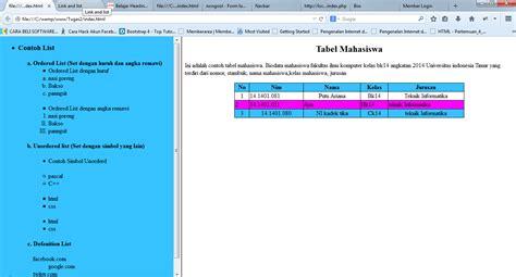 membuat kode html cara membuat frame html mengunakan kode html pemrograman web