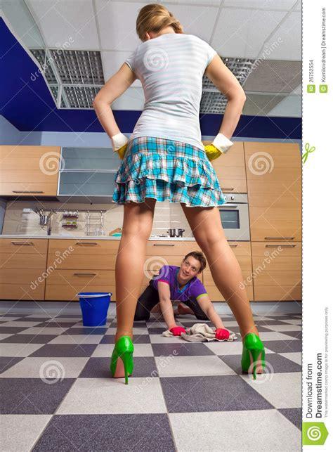 Free Kitchen Design Program Man Cleanig Floor Stock Images Image 26752554
