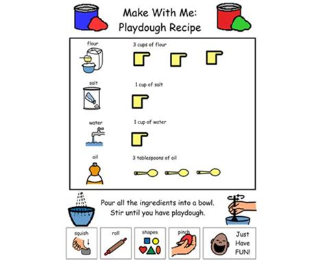 printable boardmaker recipes boardmaker online slp craft recipe visuals pinterest