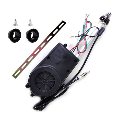universal 12v car aerial automatic power antenna am fm radio mast signal booster ebay