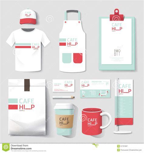 uniform design mockup vector restaurant cafe set flyer menu package t shirt