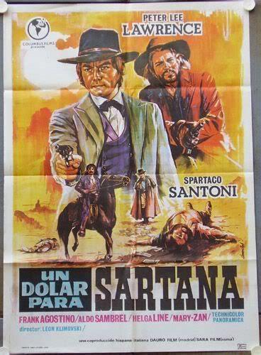 Film Western Un Dolar Gaurit   un dolar para sartana 60 s western style poster art