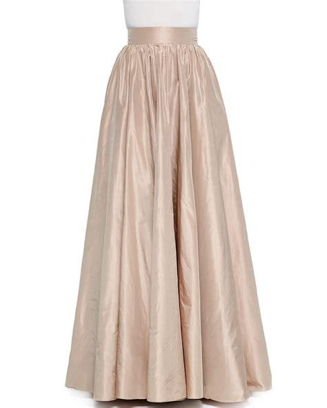 Asymmetrical Draped Skirt Jenny Packham Full Wide Waist Ball Skirt In Metallic Lyst