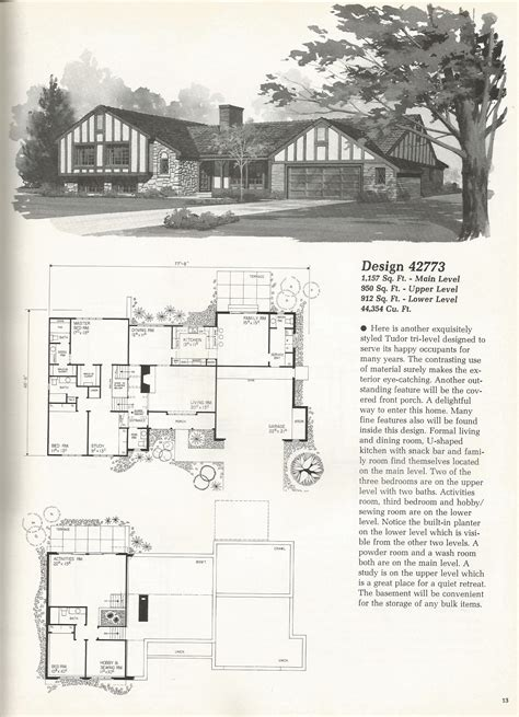 vintage home design plans vintage house plans tri level tudor antique alter ego luxamcc