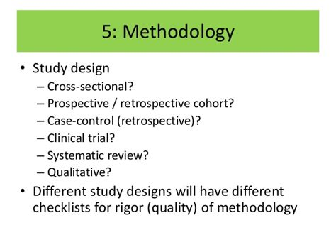 retrospective cross sectional study design critical appraisal