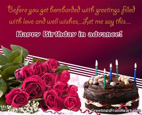 Advance Birthday Cards Happy Birthday In Advance Images Frompo