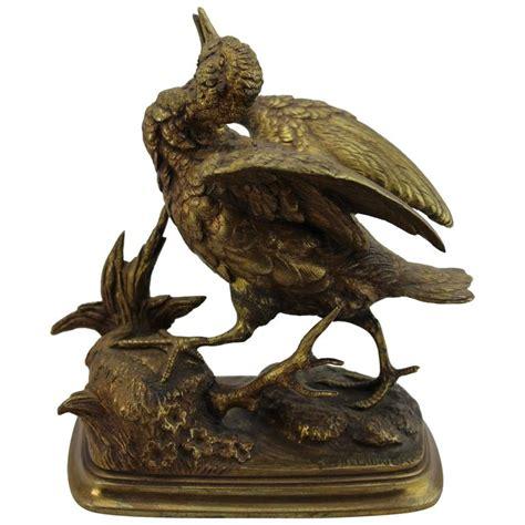 Bronze Bird L paul edouard delabrierre animalier gilt bronze bird circa