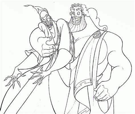free coloring pages of statue of zeus