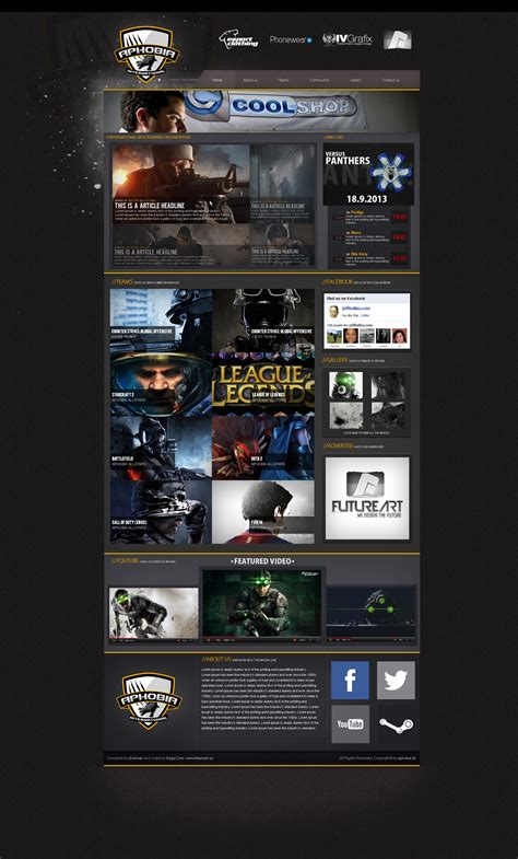 website templates for gaming clans gaming clan template by xdamianart on deviantart