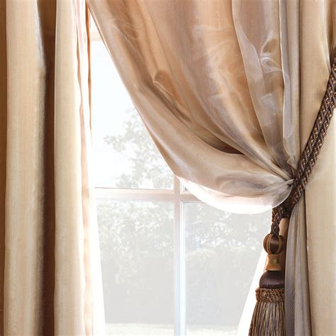 sheer silk curtains charmeuse sheer curtain panel overlay bronze 84