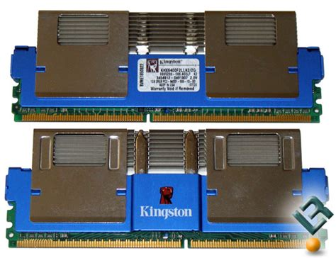 fb dimms kingston 2gb 800mhz hyperx fb dimm memory kit review