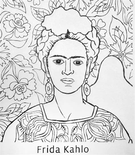diego rivera coloring pages frida kahlo coloring pages history plays and learning