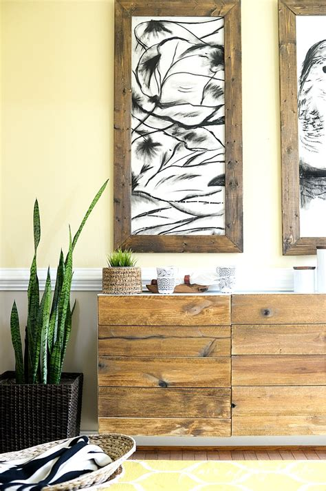 ikea buffet hack diy reclaimed wood buffet ikea hack