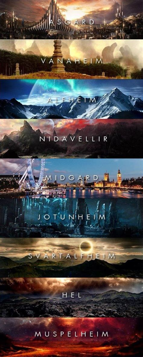 thor film yggdrasil the nine realms of ygrissil the world tree according to