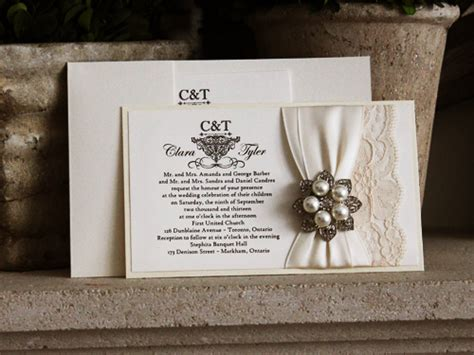 stephita wedding invitations wedding invitation 768 white gold buttermilk pearl
