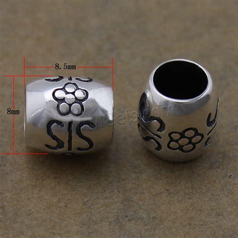 drum pattern awareness thailand sterling silver european alphabet beads drum with