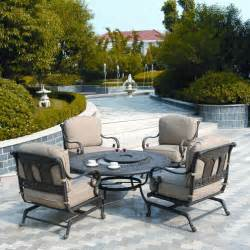patio furniture with pit table st moritz seating pit set by hanamint family