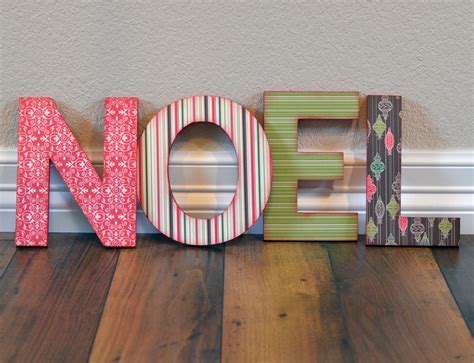 Letter Decoration Ideas Craft Ideas And More From Davet Designs Noel Chipboard Letters