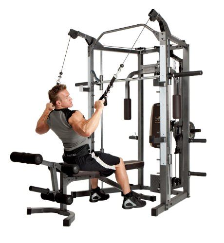 smith machine bench marcy smith cage machine with workout bench and weight bar