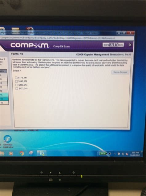 Mba Comp Xm Tutor by Solved Comp Xm Points 10 02006 Capsim Management Si