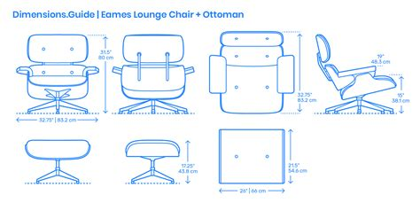 Eames Lounge Chair Dimensions by Eames Lounge Chair Ottoman Dimensions Drawings