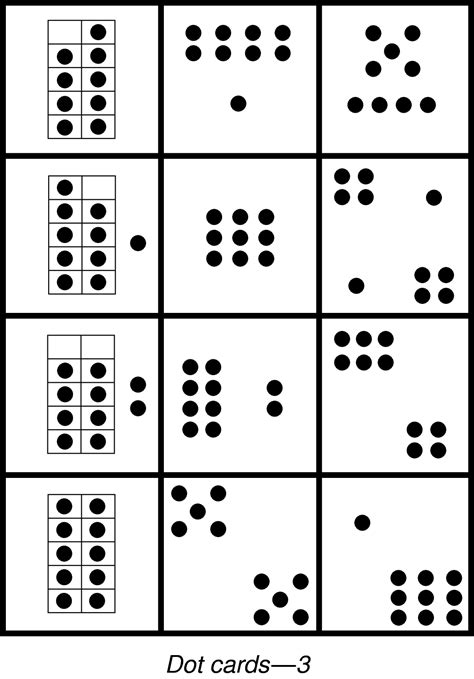 printable dice dot cards 5 best images of printable dot cards 1 20 free printable