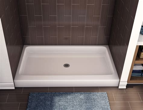 bathroom shower pans fiberglass shower pan american standard with modern rectangular shower base design