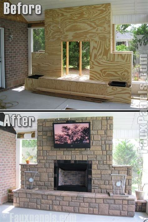 outdoor fireplace by bitz backyard