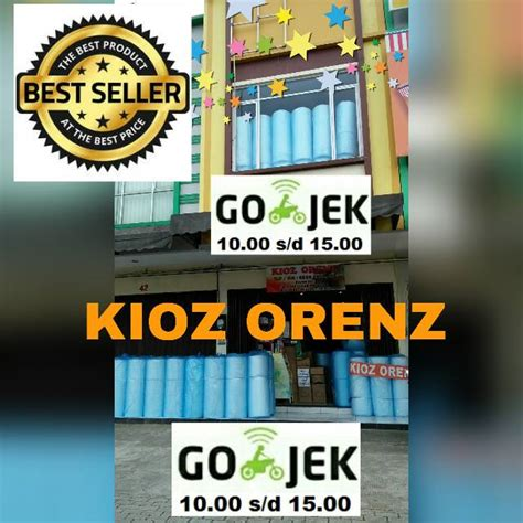 Khusus Go Send Wrap 50mx125cm jual bubblewrap wrap roll gelondong plastik