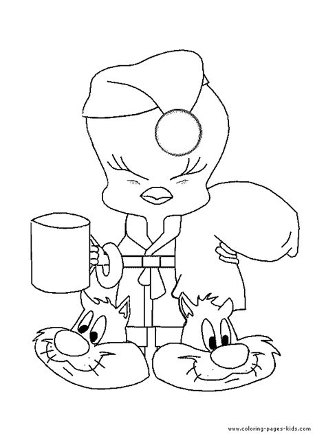 tweety bird christmas coloring pages to print