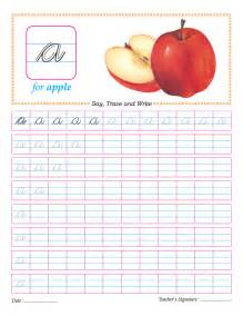 cursive small letter a practice worksheet download free