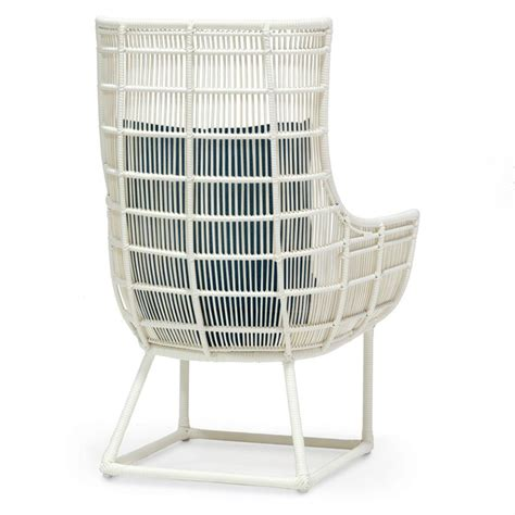 tyler modern classic faux wicker cream outdoor lounge