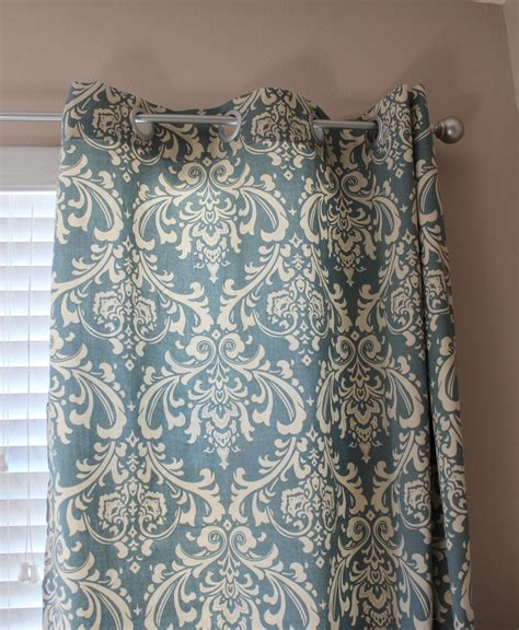 cream and blue curtains living room curtains new home pinterest damask