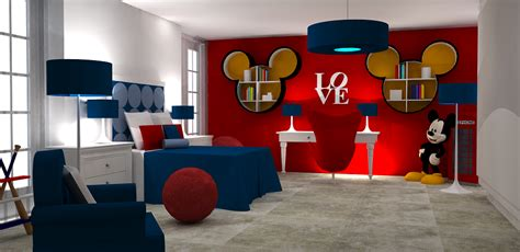 decoracion habitacion mickey mouse dormitorio tema mickey mouse dormitorios colores y estilos