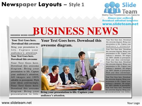 newspaper layout design powerpoint news on newspaper layouts design 1 powerpoint ppt slides