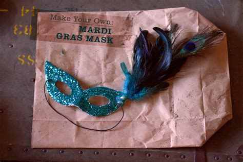 How To Make A Mardi Gras Mask Out Of Paper - make your own mardi gras mask