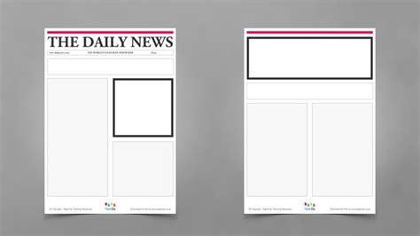 layout word zeitung blank newspaper templates
