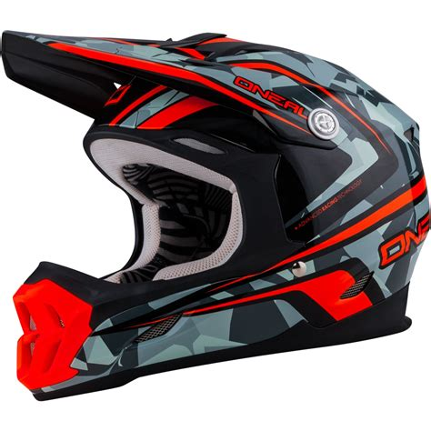 orange motocross helmet oneal 7 series camo grey orange motocross helmet atv moto