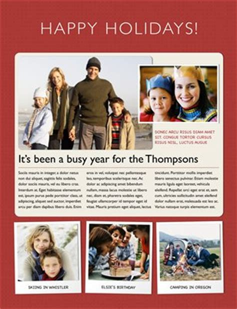 christmas newsletter templates for pages templates holiday newsletter template for iwork