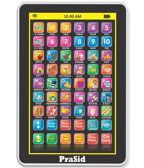 my pad mini english learning tablet for kids best price in india as on 2016 may 11 compare prasid multicolour my pad mini english learning tablet for kids indian voice buy prasid