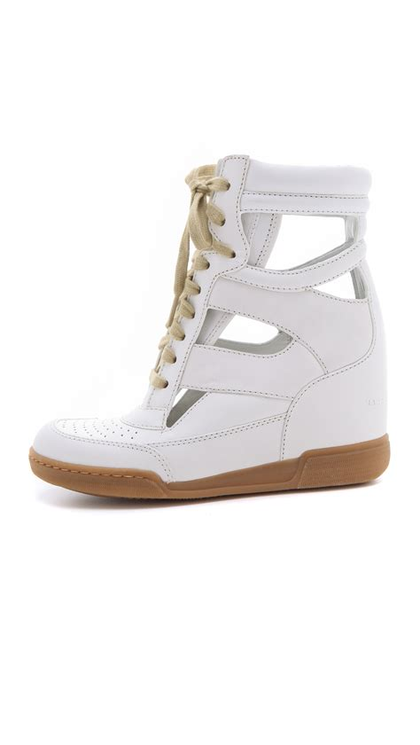 marc sneaker marc by marc cutout sneaker wedges in white lyst