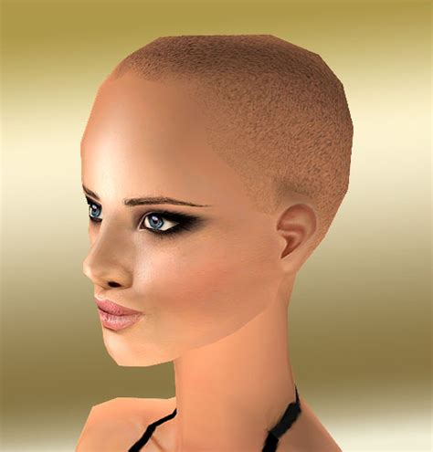 images of hairstyles for balding women mod the sims upgrade to maxis bald hairstyle for women