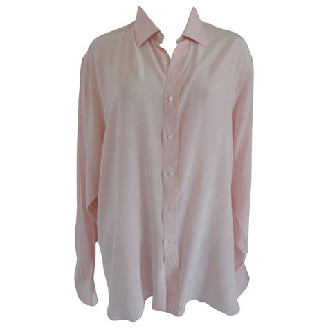 yves laurent chemises pink shirt for sale at 1stdibs