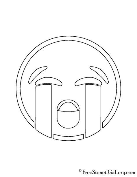 printable pumpkin stencils emoji emoji loudly crying stencil free stencil gallery