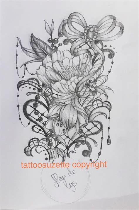 lace tattoo design by tattoosuzette on deviantart
